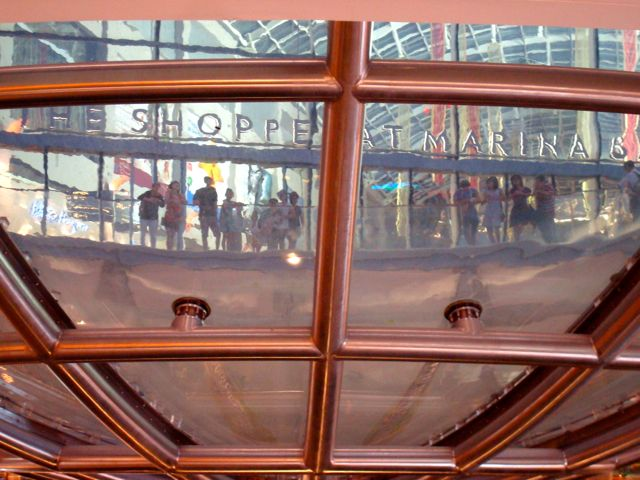 Funky view of the Shoppes At Marina Bay