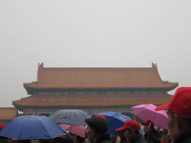 the Forbidden City tourist crowd