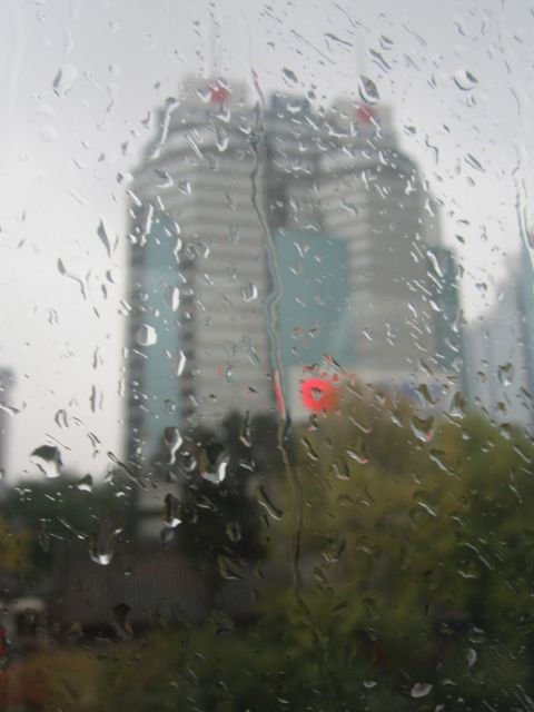 Beijing in the rain