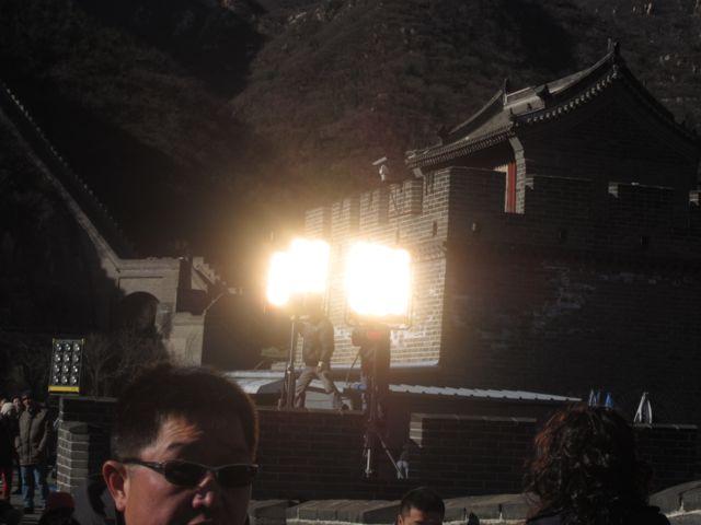 movie set at the Great Wall of China