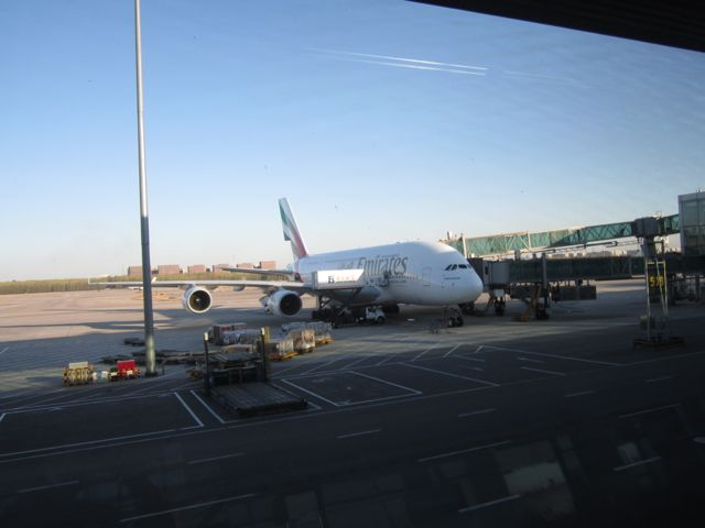 Going home - there was an A380 in Beijing!