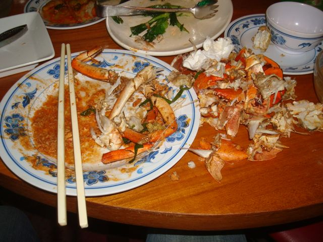 Afterwards... this was all that was left of those two crabs...