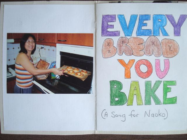 Naoko's Song (Every Bread You Bake) inside front cover
