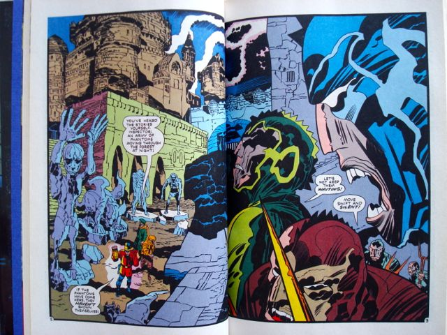 Jack Kirby, The Demon, two-page spread