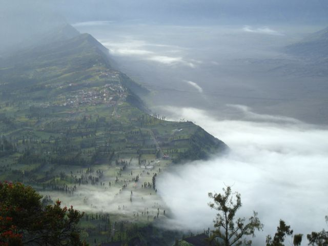 The beauty of the volcanic plateau at Mount Bromo