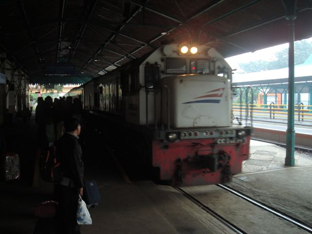 The train from Surabaya to Jogjakarta