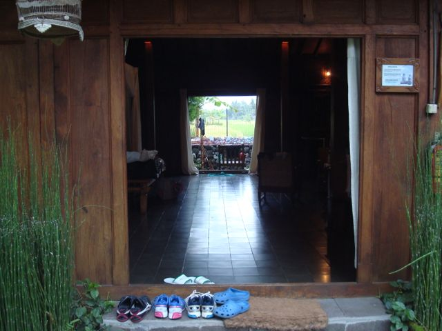 View of our Rumah Tembi cottage with front and back door opened