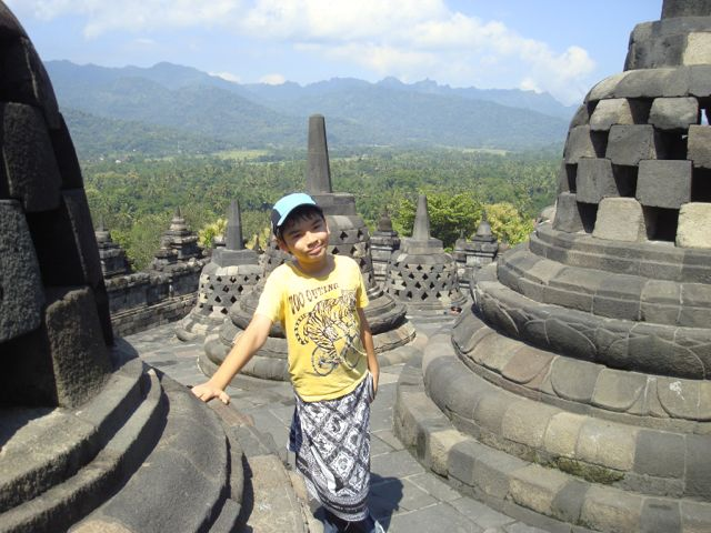 Zen at the top of the Borobudur temple