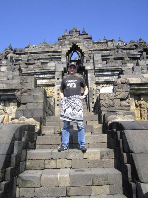 Climbing Borobudur