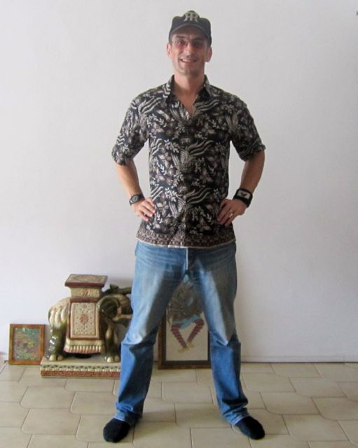 My cool new batik shirt!! The first one...