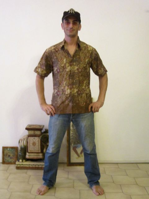 My cool new batik shirt!! The second one...