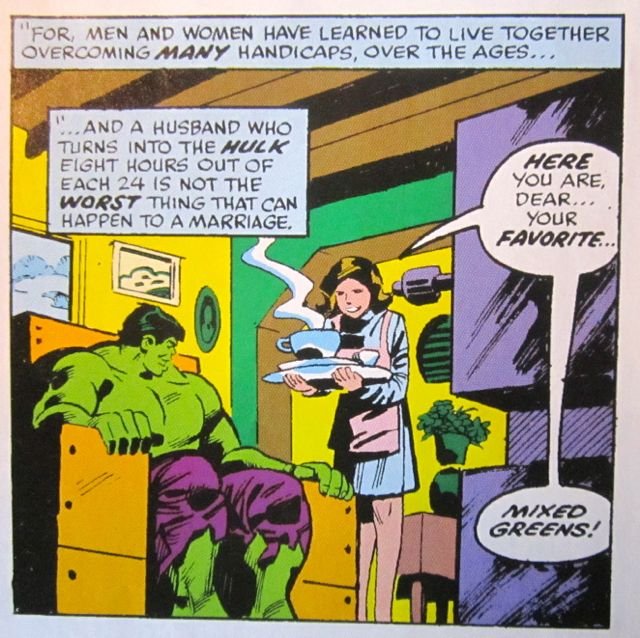 Mr and Mrs Hulk's domestic bliss