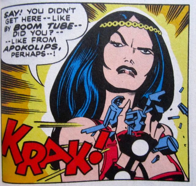 Big Barda is not pleased!!