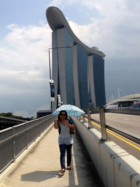 Marina Bay Sands with Naoko