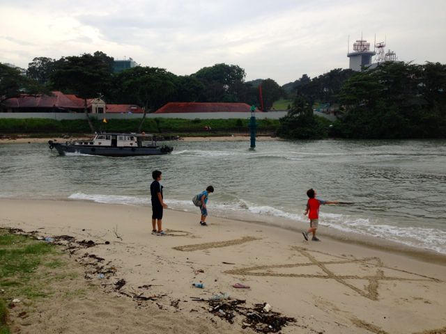 Zen and friends at Changi beach
