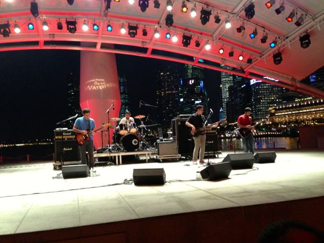 Damn Dirty Apes playing a free concert at the Esplanade bandshell