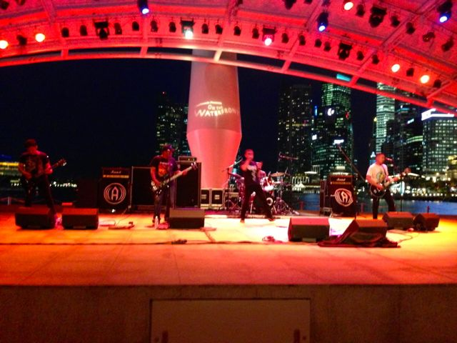 ((AUMAN)) from Indonesia, live at the Esplanade riverside bandshell