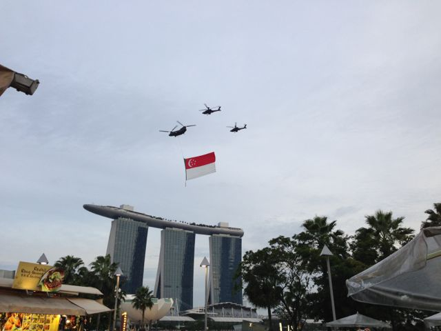 It's National Day Parade rehearsal!!