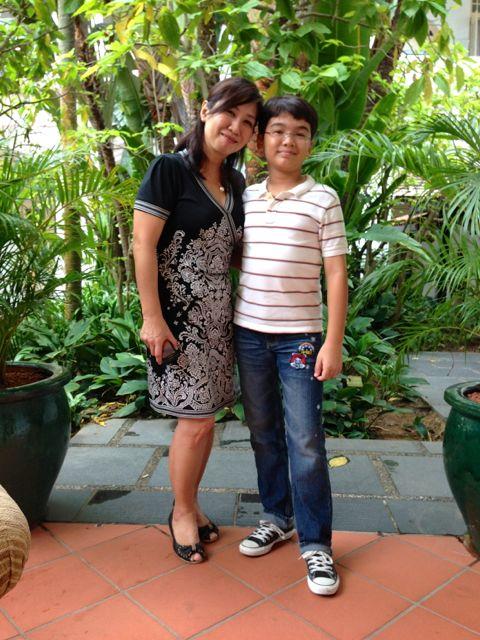 In the Raffles Hotel garden