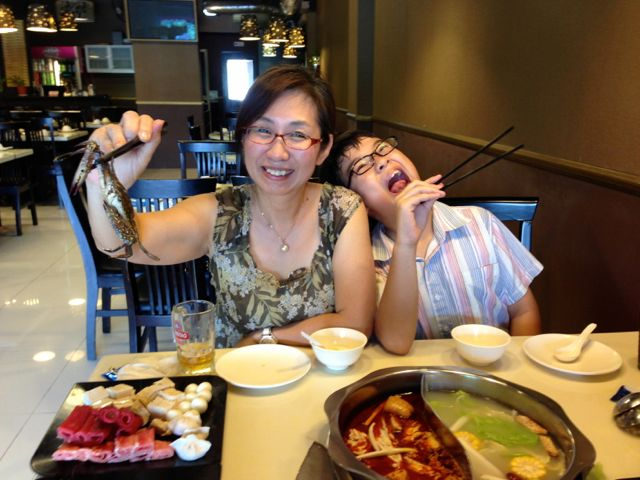 Our hot pot lunch - before