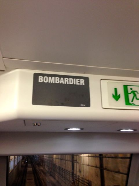 Subway cars made by Bombardier!