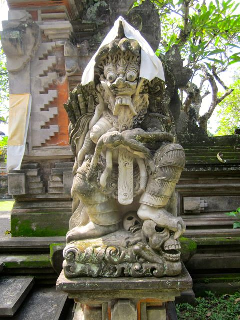 Ubud village gate god