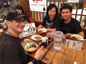 Eating ramen in Hakata!